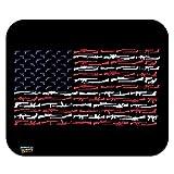 American Gun Flag USA Second 2nd Amendment Low Profile Thin Mouse Pad Mousepad