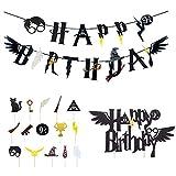 Mago Cumpleaños Fiesta Decoracion Inspired Cupcake Toppers Mago Globo Halloween fiestas Suministros para Niños Niños Niñas