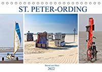 ST. PETER ORDING Strand und Meer (Tischkalender 2022 DIN A5 quer): Impressionen von der Halbinsel Eiderstedt (Monatskalender, 14 Seiten )