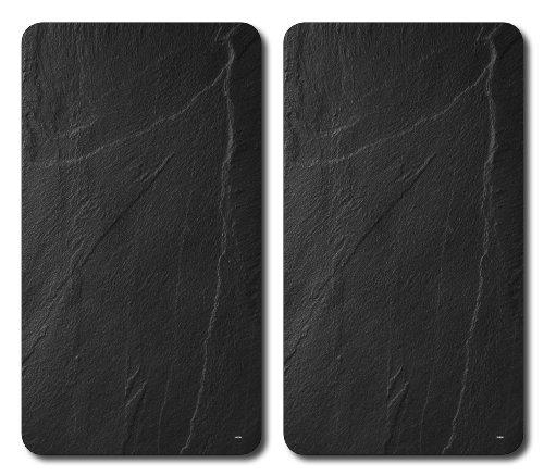 Kesper 36523 - Tablas para cortar, cristal, 2 unidades, 52 x