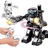 Linbing666 Kinder-Fernbedienung Roboter-Spielzeug, 2,4 GHZ somatosensorischen Ferncontro Kampf gegen Roboter, mit Beleuchtung und Sound-Effekten, Für Kinder Unterhaltung,Schwarz
