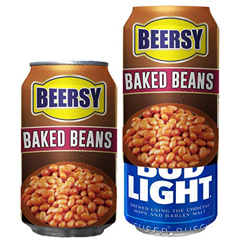 Beersy Can Cover Silicone Sleeve Hide a Beer to Look Like Soda, Fits 12 oz, Novelty Alcohol Disguise for Outdoor Events Beersy's Baked Beans