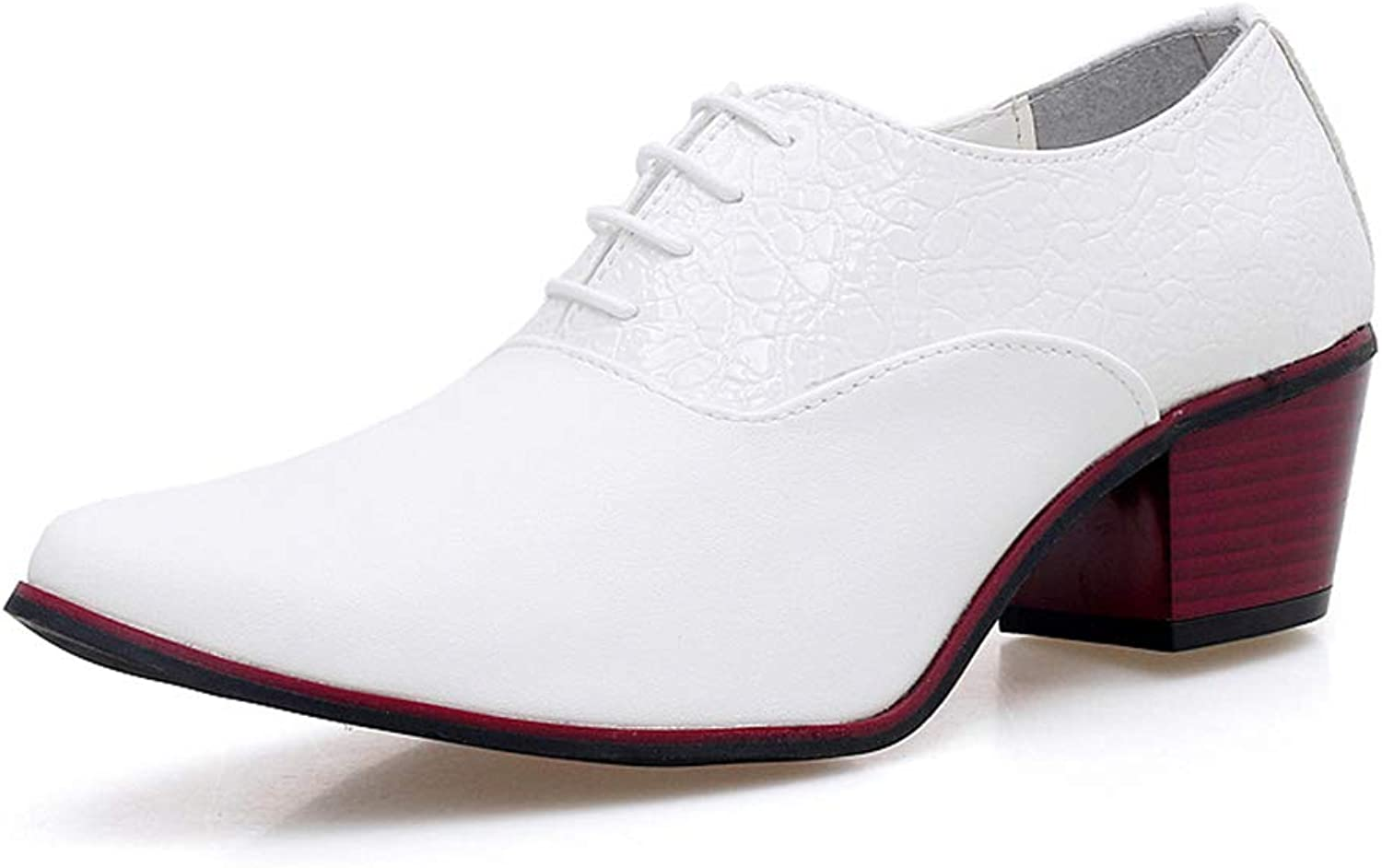 Men'S shoes, Barber Men Height Increase Casual shoes England Pointed High Heels Hair Stylist Nightclub shoes,b,43