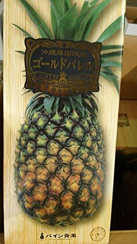 沖縄東村産の大きな極甘パイン・ゴールドバレル1個(約1.5kg)