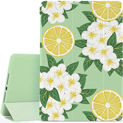YCCY Flowers Fruit Floral Pad Case Cover for iPad Pro 9.7'(2016) Green Case Summer Flowers Lemon Anti-Scratch Shockproof Lightweight Smart Trifold Stand Cover Soft TPU Cover for iPad Pro 9.7'(2016)