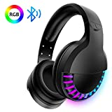 Wireless Bluetooth Headset Over Ear, Hi-Fi Stereo 5.1 channel , RGB LED Horse