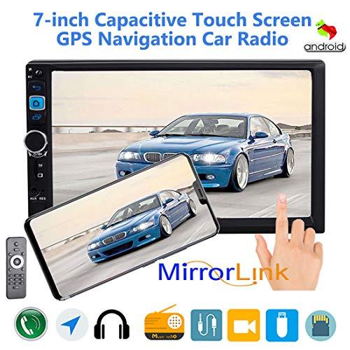 MuChangZi Universale Doppio Lingotto 7 Pollici Auto Radio con GPS Specchio Link Touch Screen Audio Stereo Bluetooth,TF/SD/AUX/USB Radio FM+Telecomando