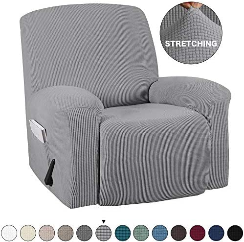 Best Turquoize Recliner Cover with Pockets 1-Pieces Chair Recliner Cover Suede Furniture Cover Spandex St