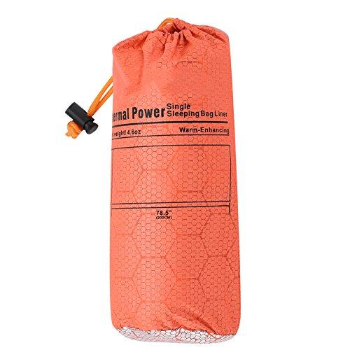 Keenso Schlafsack, tragbarer Bergsteiger Camping Warmer Umschlag Typ Einzelschlafsack Orange für den Außenbereich