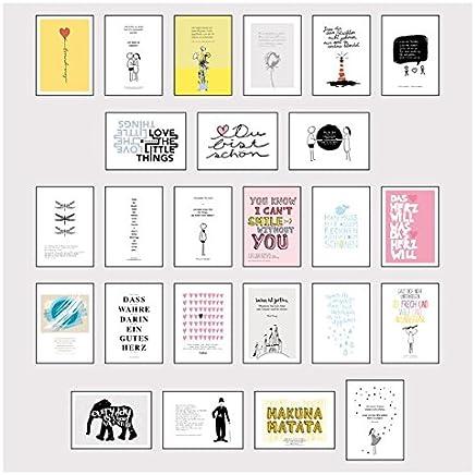 Postkarten Box Set it 25 Detailverliebten und Hand designten hochwertigen Postkarten it liebevollen Zitaten und Sprüchen by Lisa Wirth