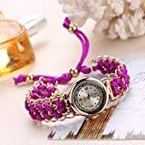 JZDH Frauen Uhren Mode Frauen Strick Seil Kette Wickelende Analogquarz Bewegung Armbanduhr Damen Elegante Armbanduhr Mädchen Relogio Feminino Ladies Girls Casual Decorative Uhren (Color : G)