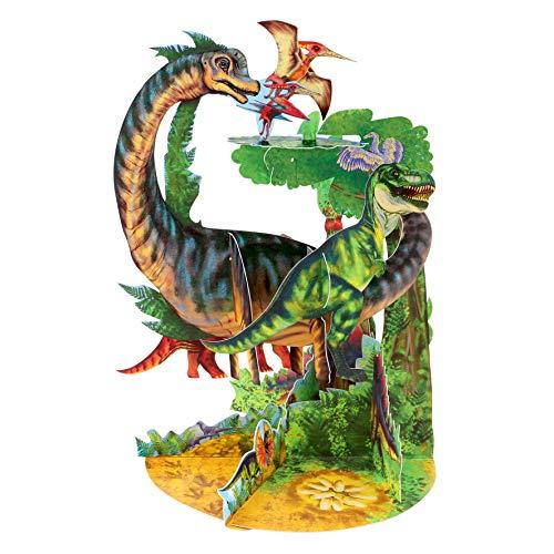 Dinosaurs Pendulum - Santoro 3D Pop-Up Gretting en Verjaardagskaart voor Kinderen