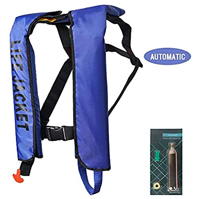 MOCOTONO Inflatable Life Jacket, Automatic/Manual Inflatable PFD Life Vest for Adults,Auto Blue