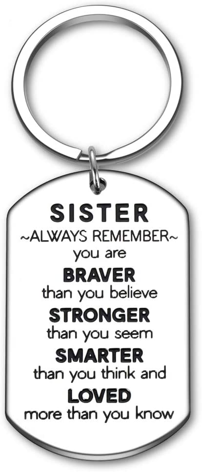 Sister Gifts Popular overseas Keychain Max 74% OFF for Brother Cousins Inspiratio from