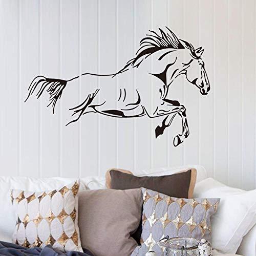 Sticker Zwarte Mercedes Paard Woonkamer Slaapkamer Decoratie Waterdichte PVC Muursticker