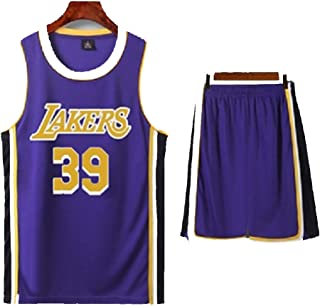 T-Shirt for Men Basketball Jersey Howard 39#, Lakers, Breathable Sweat-Absorbent Professional Basketball Sportswear, Black Yellow Purple Suit, (XS-5Xl)
