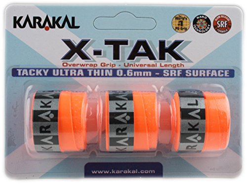 Karakal X-TAK Overgrip para raquetas de tenis, bádminton o squash