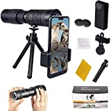 WENTING 10-300x40mm Super Telephoto Zoom Monocular Telescopio Portátil de Bolsillo BAK4 Prism Trípode Telescopio Militar de Alta Definición (con Trípode)