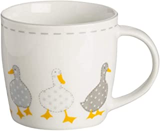 Price & Kensington Madison Fine Porcelain 340 ml Mug, White, 12 x 9 x 8.5 cm