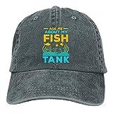 Pregúntame sobre mis sombreros de tanque de pescado algodón lavables gorras de béisbol ajustables para hombre mujer