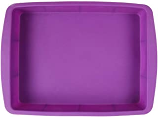 NYKKOLA Silicone Rectangular Cake Pans Easy Demoulding Purple