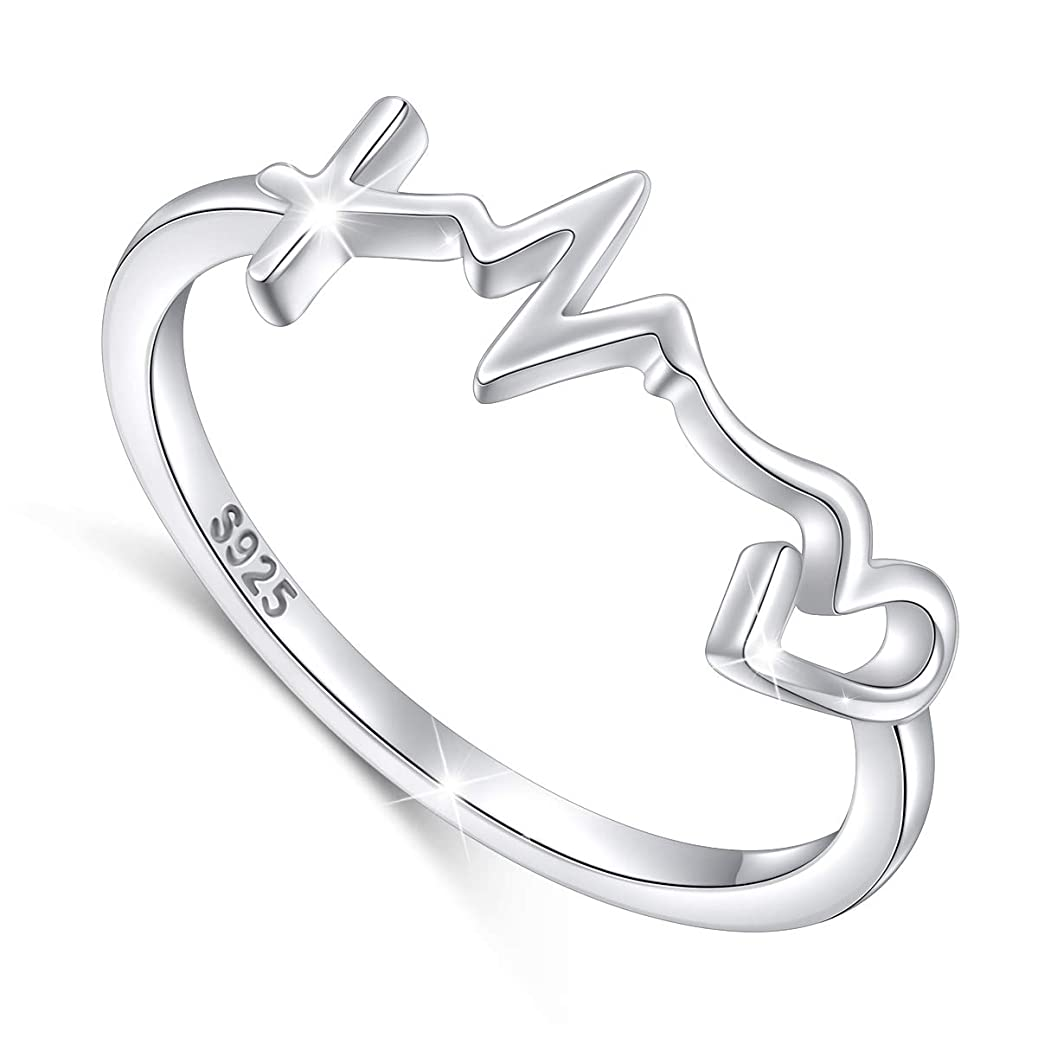 S925 Sterling Silver Faith Hope Love Ring for Women Girls Christian Jewelry Gifts wznk7065640950