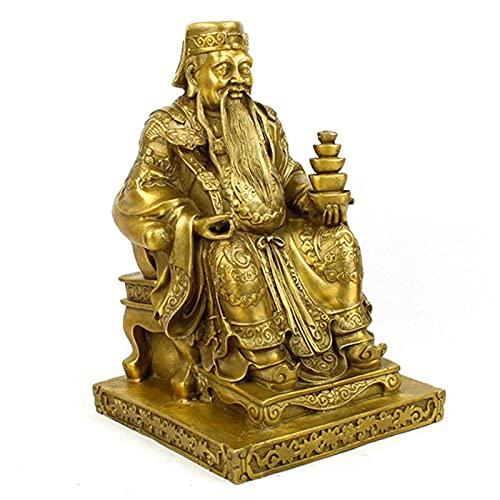 Gpzj Estatua de Buda Bronce Puro Señor de la Tierra Decoración Feng Shui Decoración Estatua de Buda de Dios Oficina Decoración del hogar Riqueza Regalos de inauguración de la casa para Manualidades