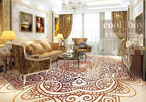Las formas antiguas se contratan papel pintado del suelo del pvc de la manera para la sala de estar 3d baldosas foto murales de la pared-400 * 300cm