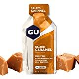 GU Energy Original Sports Nutrition Energy Gel, 24-Count, Salted Caramel
