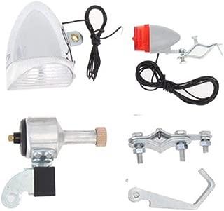 YOZOOE Bicycle Motorized Friction Generator-12V 6W Generator Dynamo Light Kit for Bicycle and Motorcycle,Motorized Bike Headlight Tail Light Kit
