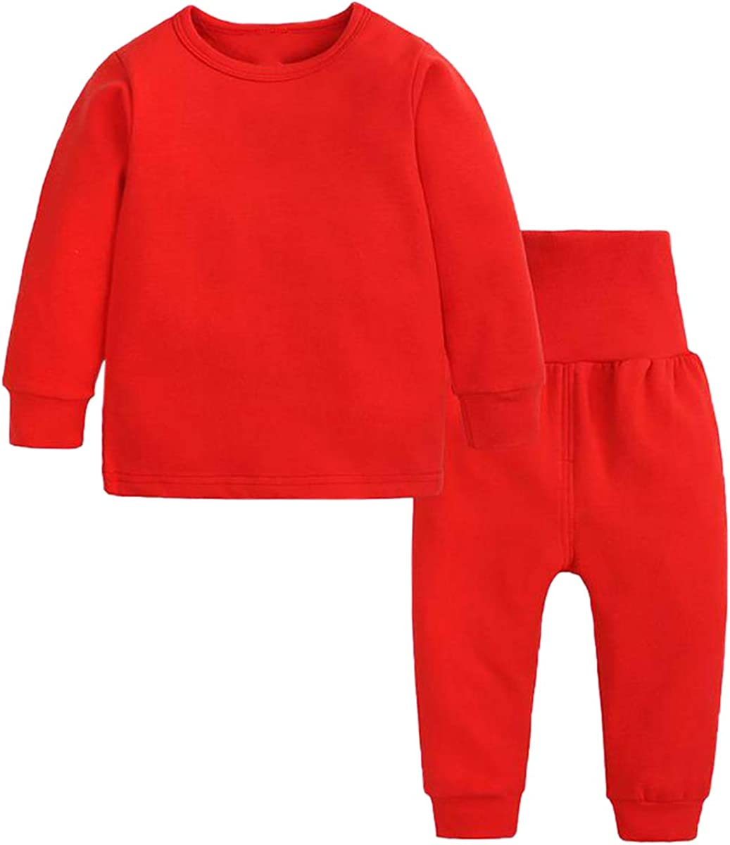 Toddler Girl's Thermal Underwear Set Base Layer Top & Bottom Set, Red, 18-24 Months = Tag 100