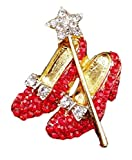 New Horizons Production Wizard Oz Ruby Slippers Wand Novelty Metal Enamel Pin