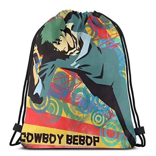 xinping Spike Spiegel 15 Drawstring Bag Sport Gym Backpacks Storage Goodie Cinch Bags-SpikeSpiegelCowboyBebop10-OneSize