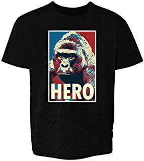 Harambe Pop Art Hero Meme Quote Political Clothing Youth Kids Girl Boy T-Shirt