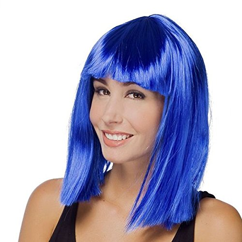 Perruque Star carré bleue