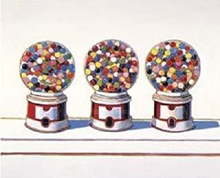 Three Machines 1963 by Wayne Thiebaud Gum Gumball Candy Kid Children Poster (Choose Size of Print)