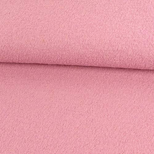 Walkloden uni rosa Mantelstoff Modestoffe Walkstoffe Winterstoffe einfarbig - Preis gilt für 0,5 Meter