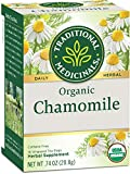 Traditional Medicinals Organic Chamomile Herbal Leaf Tea, 96 Tea Bags (Pack of 6)