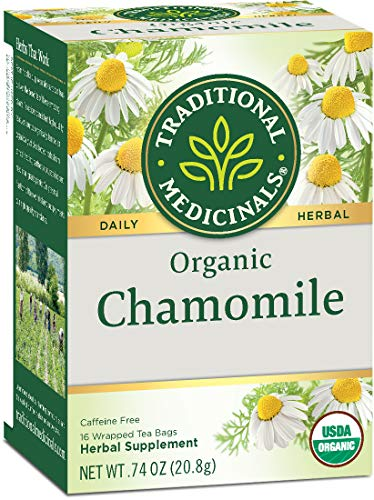 Traditional Medicinals Organic Chamomile Herbal Leaf Tea, 96 Count, Pack of 6