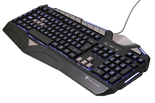 ThunderX3 TK25- Teclado gaming de membrana- (Personalización total,Retroiluminación LED, perfiles múltiples, teclas macro, respuesta ultra rápida, capacidad anti-ghosting ) Color Negro