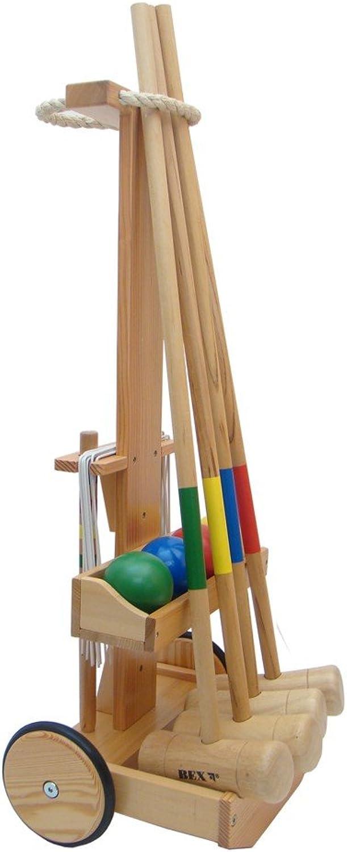 Bex Sport KROCKET Original, Set im Holzwagen für 4 Spieler