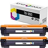TONERPACK Pack 2 tóner para Brother TN1050, Cartuchos de tóner compatibles TN-1050 para Brother DCP-1510 DCP-1512 HL-1110 HL-1210W DCP-1612 DCP-1610W HL-1112 MFC-1810 MFC-1910W