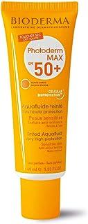 BIODERMA Photoderm MAX Aquafluide SPF 50+ الجاف اللمس واقية من الشمس الذهبية تينت كل نوع الجلد، 40ML