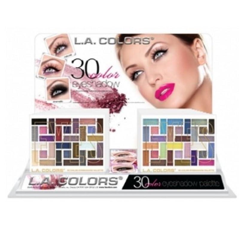 タバコ倫理見習いL.A. COLORS 30 Color Eyeshadow Palette Display Set 18 Pieces (並行輸入品)