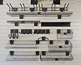 HandiWall Deluxe Accessory Kit with 47 Graphite Colored Slatwall...