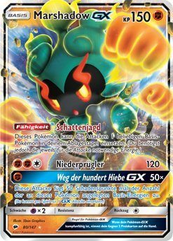 Pokémon - Marshadow GX - 80/147 - Inglese - Sun&Moon 3: Burning Shadows