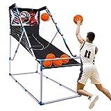 Wodesid Basketball Arcade Game Indoor Basketball Hoop for Kids Adults Arcade Basketball Games Outdoor – Basketball Game with Hoop Training System (with 6 Balls)