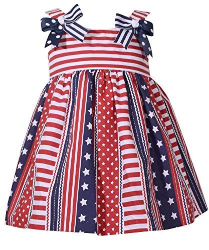 Bonnie Jean Toddler Girls' Americana Dress, Flag Stripes, 4T