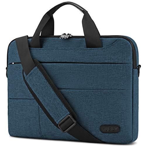 Laptop Bag for Men 15.6 inch Computer Sleeve Carrying Surface Laptop Case Water Repellent Briefcase Work Business Messenger Shoulder Bag Tablet Handle Case for Notebook Navy