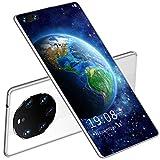 FJYDM Smartphone Teléfonos Android 10 Desbloqueados, Teléfonos Móviles De 7.1 Pulgadas, Pantalla Completa De Alta Definición, Doble SIM 5G, Batería De 5600 Mah, Cámara De 24 + 48 MP,Blanco
